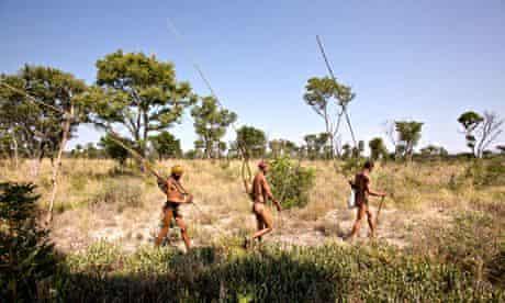 Kalahari desert Bushman hunters