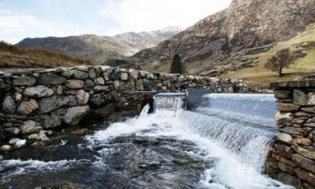 The new hydro-turbine at the National Trust's Hafod y Llan farm in Snowdonia, Wales
