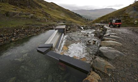 The new hydro-turbine is installed at the National Trust's Hafod y Llan farm in Snowdonia, Wales