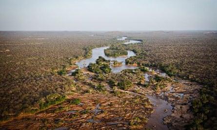 KWS using drone to monitor elephants and rhino in Kenya : Kora National Park