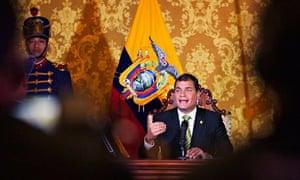 Ecuador President Rafael Correa reverses his 2007 Yasuni Amazon reseerve initiative