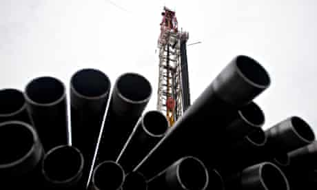 Fracking for shale gas in Marcellus Goliath Pennsyvania