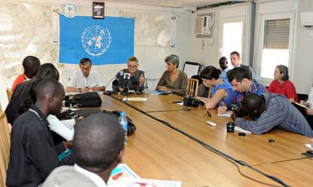 MDG : IRIN  and UN news : Lise Grande gives a press conference on humanitarian crisis in South Sudan