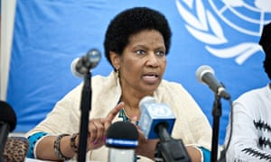 MDG : UN Women Executive Director Phumzile Mlambo-Ngcuka arrives in the Central African Republic