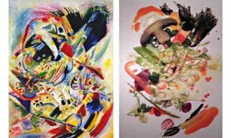 Food arranged to resemble a work of art tastes better, Wassily Kandinsky