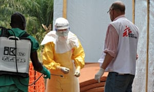 MDG : Ebola epidemic in West Africa : MSF center for victims of the Ebola virus in Guekedou