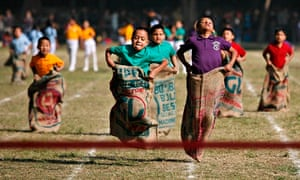 MDG : Education in Nepal : School Sport Day at the St. Xavier School in Kathmandu