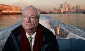 Lord Chris Smith, head of the Environmental Agency, on the River Thames