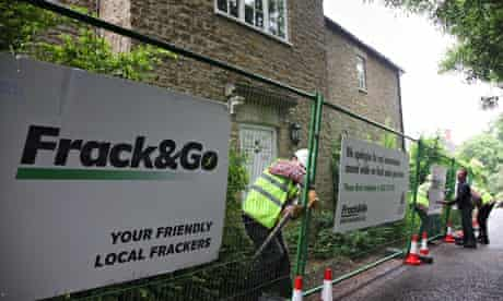 Greenpeace Fracking protest : David Cameron's home in Dean being turned into a fracking site