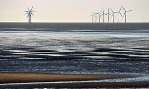 Green bonds : the Burbo Bank Offshore Wind Farm near New Brighton