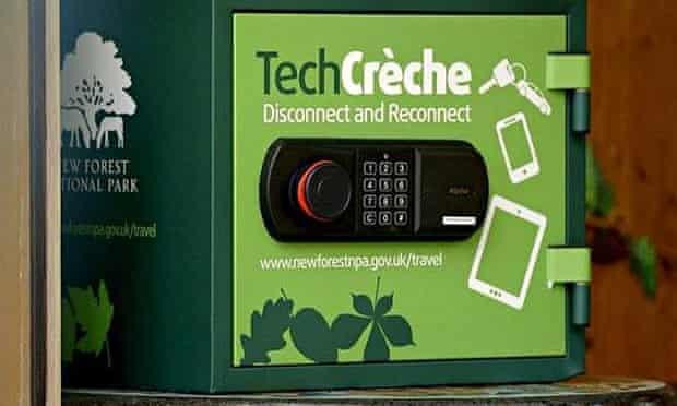 New Forest National Park deploys 'tech creche' safe to park mobile phones