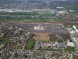 IMS solar farm next to  Indianapolis Motor Speedway