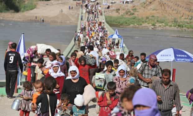 MDG : Humanitarian crisis in Iraq : Displaced Yazidi  at the Syrian-Iraqi border