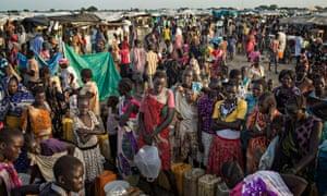 MDG : Humanitarian crisis and famine in South Sudan : IDP camp in Bentui