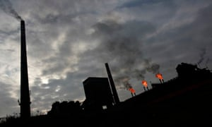 Co2 Pollution and climate change : General view of a coking plant in the city of Bytom Silesia