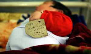 MDG : Maternal health in Afghanistan : New born at Mailala Maternity hospital