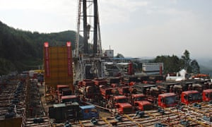 Fracking for shale gas in Sichuan, China