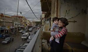 MDG : Syrian refugees downtown Beirut, Lebanon