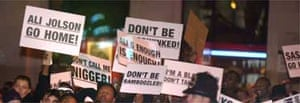 Protests at the Ali G premiere