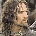 Viggo Mortensen as Aragorn in Lord of the Rings: the Two Towers
