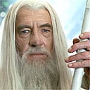 Ian McKellen as Gandalf in Lord of the Rings: the Two Towers