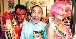 Lloyd Kaufman with volunteers Martyn and 'Bulimia'