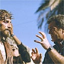 Mel Gibson directing Jim Caviezel in The Passion of the Christ