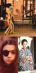 Clockwise from top: Kill Bill (2004), Lady Snowblood (1973) and Thriller - En Grym Film (1974)