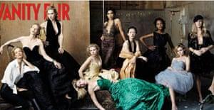 Annie Liebovitz's cover of Vanity Fair
