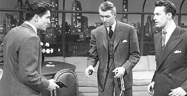 Farley Granger, James Stewart and John Dall in Rope