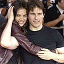 Tom Cruise and Katie Holmes at the world premiere of War of the Worlds