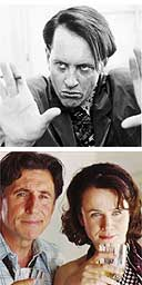 Richard E Grant in the Player, Gabriel Byrne and Emily Watson in Wah Wah