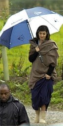Audrey Tatou on location filming The Da Vinci Code