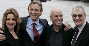 The next James Bond: Producer Barbara Broccoli, Bond actor Daniel Craig, director Martin Campbell and producer Michael G. Wilson