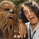 Peter Mayhew, with the Chewbacca costume