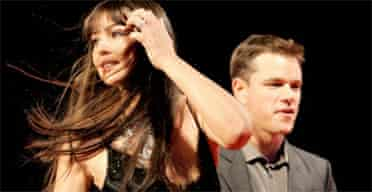 Monica Bellucci and Matt Damon at a screening of The Brothers Grimm