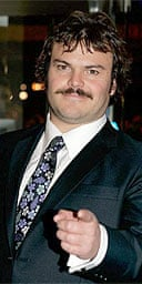 """Jack Black arrives at the UK Premiere of """"King Kong"""" at the Odeon Leicester Square on December 8, 2005 in London"""