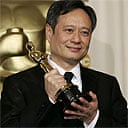 Ang Lee with his best director Oscar. Photograph: Kevork Djansezian / AP