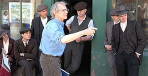 Ken Loach on the set of The Wind that Shakes the Barley
