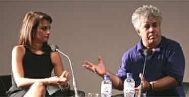 Penelope Cruz and Pedro Almodovar at the NFT