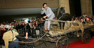 Borat arrives at the Toronto film festival