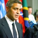 George Clooney at the UN security council meeting on Darfur