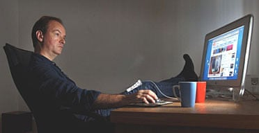 Peter Bradshaw watching movies on YouTube