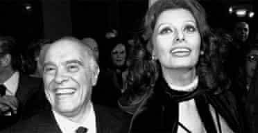 Carlo Ponti and Sophia Loren in 1976