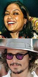 Mira Nair and Johnny Depp
