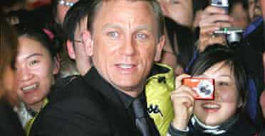 Daniel Craig in Beijing for the Chinese premiere of Casino Royale