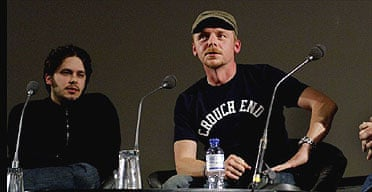 Edgar Wright (R) and Simon Pegg at the NFT