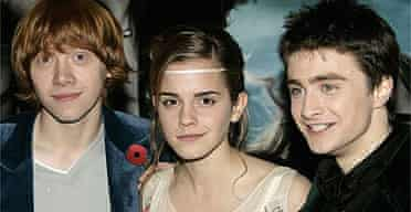 Rupert Grint, Emma Watson and Daniel Radcliffe at the premiere of Harry Potter and the Goblet of Fire in 2005