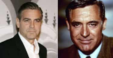 George Clooney in 2007 and Cary Grant in 1963