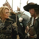 Keira Knightley and Geoffrey Rush in Pirates of the Caribbean: At World's End